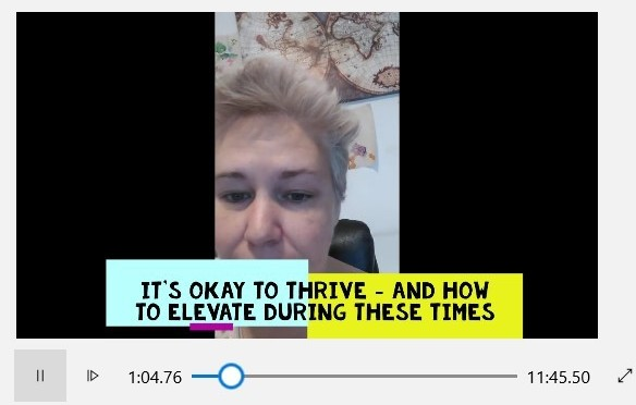 It's Okay to Thrive – Video.
