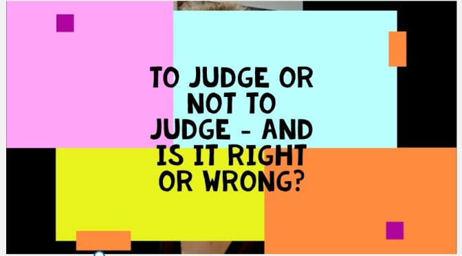 To Judge or Not To Judge. Video